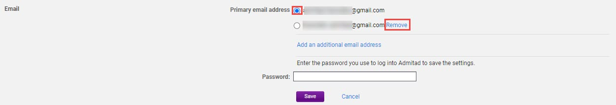 How to add an additional email address 8