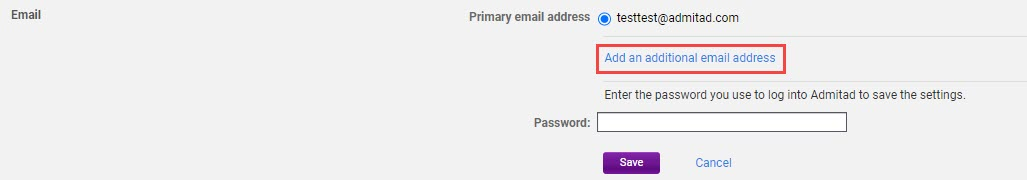 How to add an additional email address 3