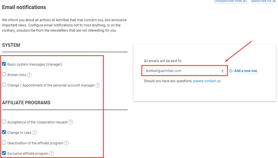 How to add an additional email address 7