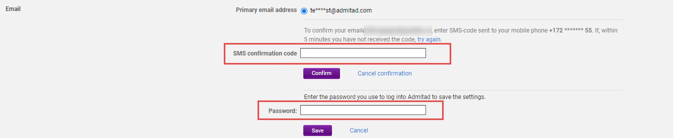 How to add an additional email address 6