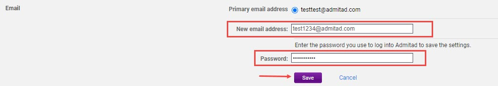 How to add an additional email address 4