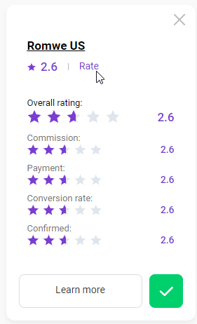 How to rate a program 2