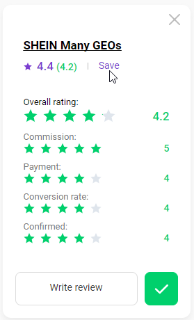 How to rate a program 9