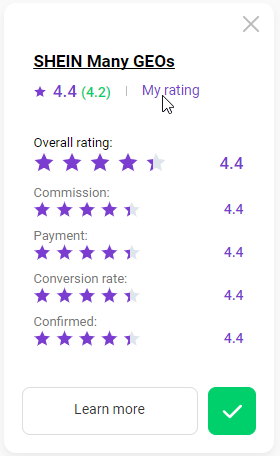 How to rate a program 8