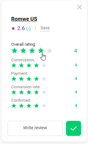 How to rate a program 4