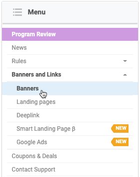How to get banners and landing pages 3